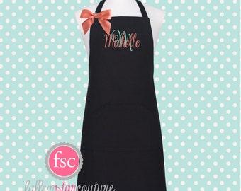 Monogrammed Apron  , kitchen apron , cooking apron , ladies apron , personalized apron