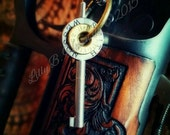 Scarlette Bullet Jewelry Bullet Necklace Smith and Wesson Handcuff Key with 38 Special and 357 Magnum Casing Heads