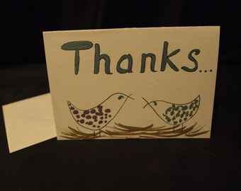 Whimsical THANK YOU Card, Set of 10