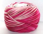 1/2 yd Hand Dyed Shibori Silk Ribbon Dk Pink Cherry Blossom Shibori Girl Pleated Silk Ribbon