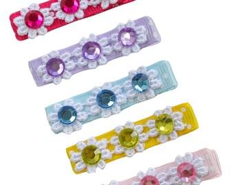 Girls Jewel No Slip Hair Clip Gift Set