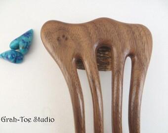 Hair Fork ,ORIGINAL SIZE Walnut Wood Fork ,Hair Accessory, Wood Hairfork, Threnody Grahtoestudio Handmade,Gift for Her,Hair Sticks