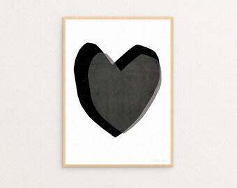 Layered Hearts 30 x 40cm Print