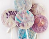 Peace symbol lollipops - 6 piece
