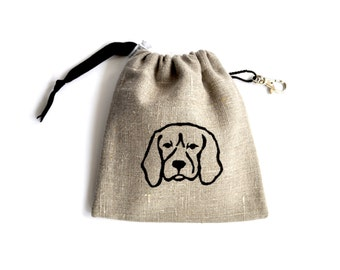 Beagle Dog Treat Pouch
