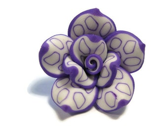 25mm Polymer Clay Rose Beads Set of Three (R17)