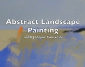 Abstract Landscape Painting Video Tutorial, Painting Lesson, Painting Demo, Paint Art that Sells, Sell Your Art, How to Paint, Step by Step