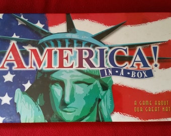 AMERICA in a Box Edition Real Estate Monopoly Game Toy Pewter Markers New Factory Sealed Accessories Authorized 1996 Hasbro