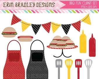 60% OFF SALE BBQ Picnic Clipart Commercial Use Clip Art Graphics Instant Download