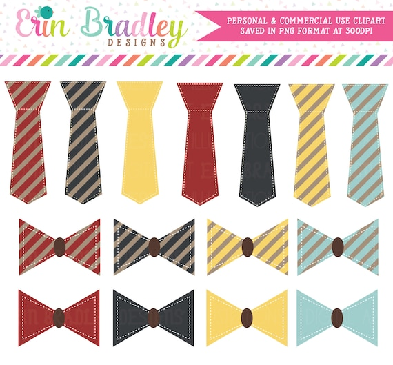 Dads Ties Clipart, Tie Clip Art Graphics, Bow Ties Clip Art, Clothing Clip Art, Commercial Use OK