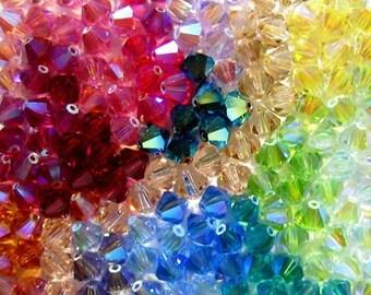 Swarovski Crystal Beads Mixes 6mm Bicone 5328 Swarovski Crystal Bead Mixes