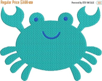 SALE 65% off Cute Crab with fill Machine Embroidery Design 4x4 and 5x7 Instant Download