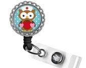 ON SALE - RN Love (Owl) Id Badge Reel - Labor and Delivery Nurse Gifts, Nicu Nurse, Gifts for Nurses, Medical Assistant Gift, Badge Holder,