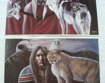 """Native American Original Signature and Numbered Prints by Artist C.R. FULTZ Purchased in Oklahoma 18-1/4"""" x 12-1/4"""
