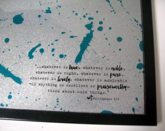 Splatter ..Magnetic Dry Erase Memo Board / Housewarming Gift / Office Decor / Organization / Message Board / Desk / Wall Decor / CoWorker
