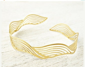 Sale 20% OFF Ripples Bracelet, signature bracelet, cuff bracelet, stackable bracelets