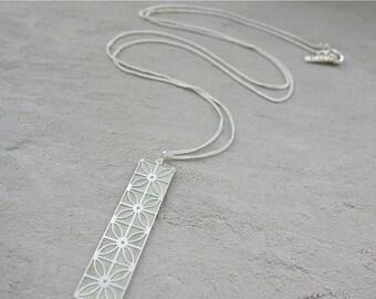 Sale 20% OFF Long Jaffa Necklace, signature necklace, Architectural design, Geometric Design