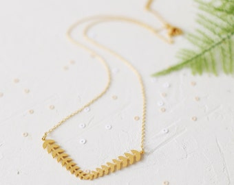 Geo Necklace, Botanic Jewelry, Botanical, Botanic necklace, Leaves Jewelry, Leaf Jewelry, Leaf Necklace, Woddland, Gold Necklaces
