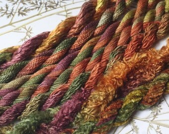 Assorted  Silk  Embroidery Thread hand dyed in Rivendell