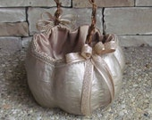 Large Champagne Pumpkin Basket for your Fall Wedding