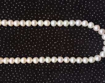 6mm White Freshwater Pearl Necklace  N2