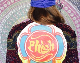 Phish 1998 Tour Mandala Design Bell Sleeve Kimono Wrap Top/Sweater Size Large/XL