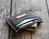 Leather cardholder, credit card holder, leather wallet, handsewn by Napkitten