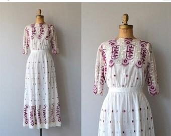 25% OFF.... Laviroi dress   antique 1910s dress   Edwardian embroidered dress