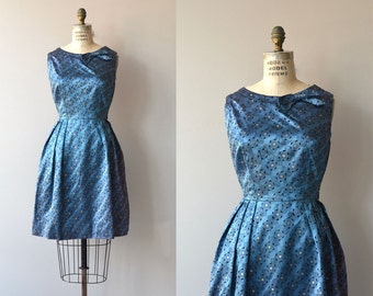 Étoile du Soir | vintage 1950s dress | metallic 50s party dress
