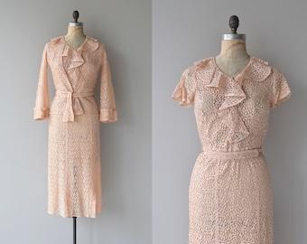 Liebeslied lace dress | vintage 1930s dress | lace 30s dress and jacket