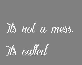 It's not a mess.  It's called character 5x7 print,  Immediate download.