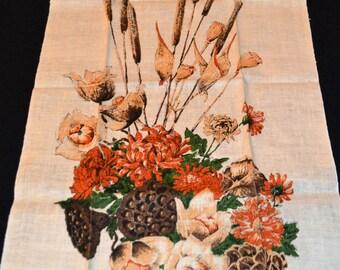 Vintage Kay Dee Linen Rustic Cottage Flowers