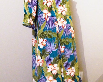 Vintage Dress Hilo Hattie Tropical Muu Muu