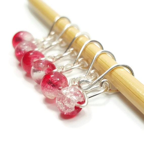 Locking Stitch Markers - Cherry Ice Melody - Stitch Markers - Small, Medium, Large, or XL