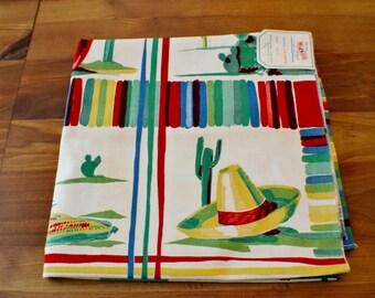 Wilendur Caliente Tablecloth Southwestern Theme- Mexican FiestaTheme Colorful Festive Fun -Original Tag
