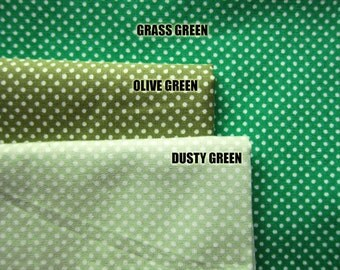 SALE Japanese Cotton Fabric - Olive Green Tiny Dots - Fat Quarter