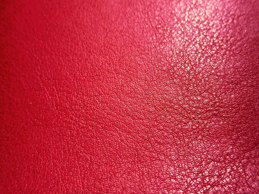 Faux leather fabric in lambskin pattern bright red for Red leather fabric