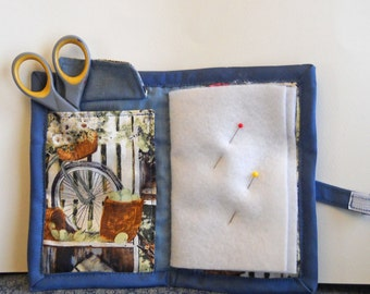 Home Town Needle Book, Needle Case,  Hand Sewing Organizer