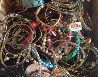 10 POUNDS Bracelet  Lot Wholesale Vintage medium Flat Rate Box lbs jewelry