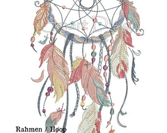 "Dreamcatcher Nr.5 Doodle 6.2x10.2"" 16x26 cm Machine Embroidery Design"