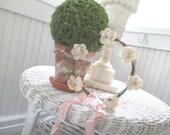 Vintage Floral Crown * Bride * Flower Girl * White * Pink * Flowers * Tiara