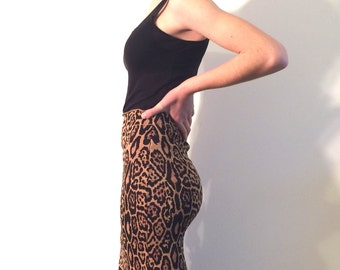 BCBG Vintage Leopard Knit skirt from Basia's Private Collection - Free US Shipping