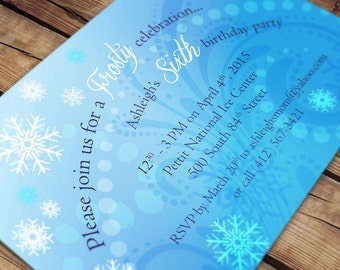 CUSTOMIZED Frozen Winter Party Invitation - DIY Print Your Own
