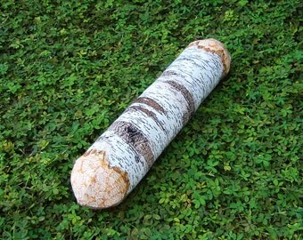 Long White Birch Tree Log Bolster Pillow - Free shipping world-wide