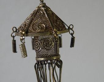 chinese lantern single earring