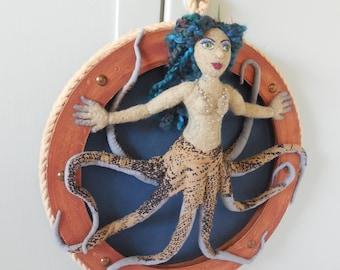Siren mermaid art doll