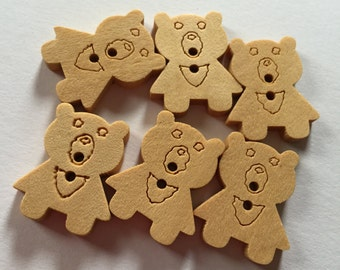 New Stock - Wood Burn Strawberry Buttons - Crafts, Novelty, Sewing (6)