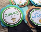 Jungle Baby Shower Decorations, Baby Shower Decorations, Baby Shower Décor, Jungle Baby Shower Mom To Be Pin, Dad To Pin, Customized