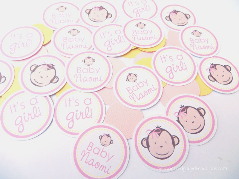 Monkey baby shower decorations girl baby shower decorations - Baby shower monkey decorations for a girl ...