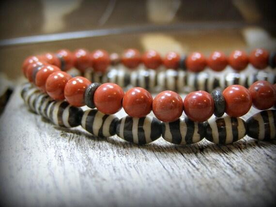 Mens Bracelet, mens, Beaded Bracelet, Bracelet Set, Womens Bracelet, Southwest Jewelry, Native American, Stretch Bracelet, Bracelet For Men